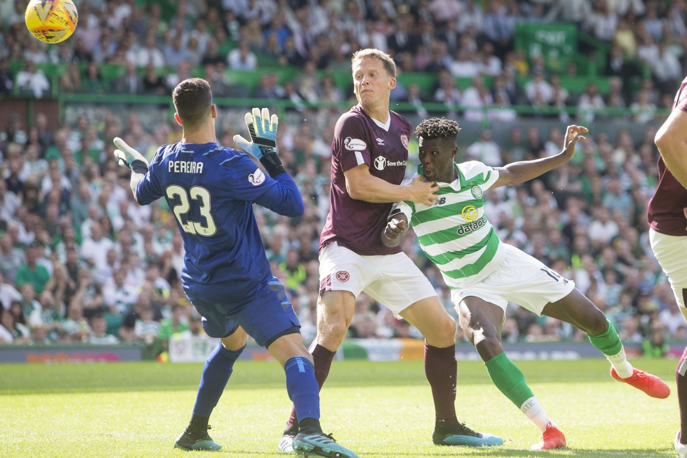 Celtic 3 Hearts 1: Bayo at the double as Neil Lennon's men reclaim top spot