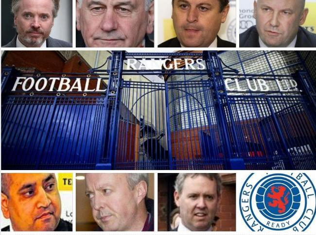 Were in the dock and now in the clear: (from top l to r) Craig Whyte, Charles Green, David Whitehouse and Paul Clark. And (from bottom l to r) Imran Ahmad, David Grier and Gary Withey