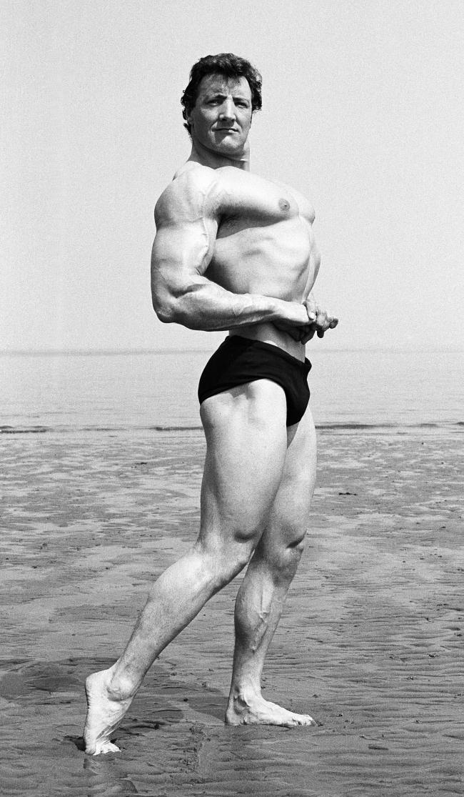 Norman Rough of Edinburgh, 'Mr South Scotland', Portobello beach, 1960s.