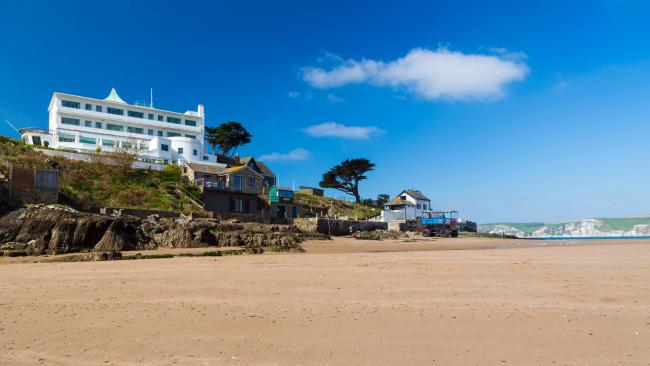 The iconic Burgh Island Hotel, an oasis of elegance caught in a time warp,