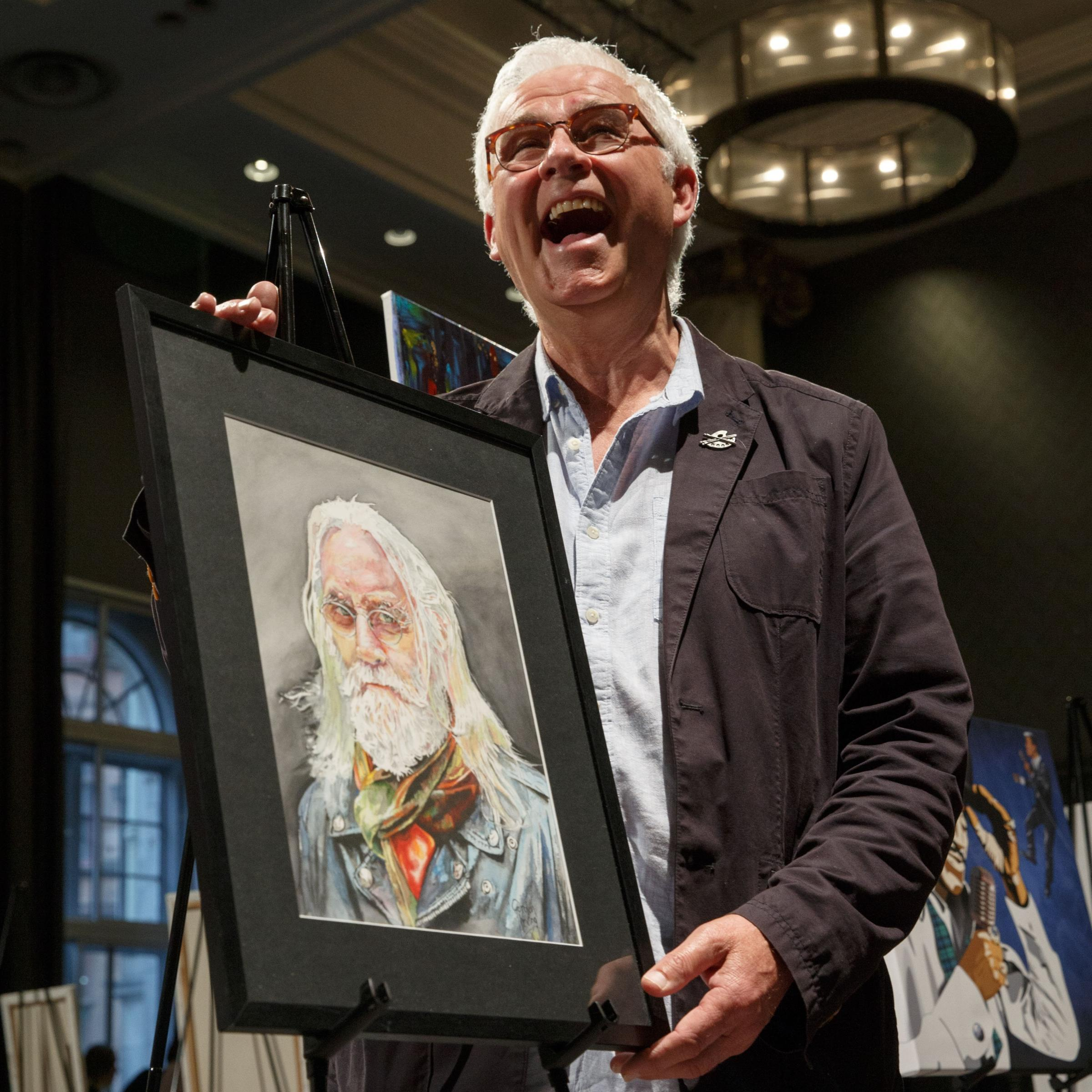 Billy Connolly portrait take honours in the Grand Central Portrait Competition