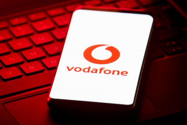 Vodafone was one of the big risers today