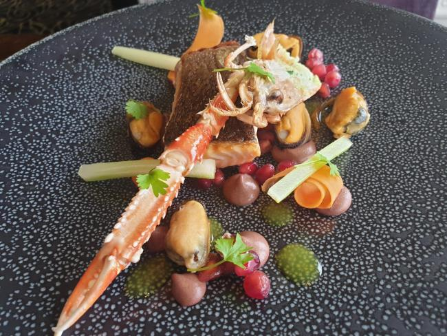 Salmon and Langoustones