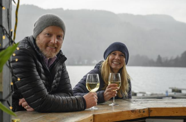 Taymouth Marina owners Eric and Naomi Strickland