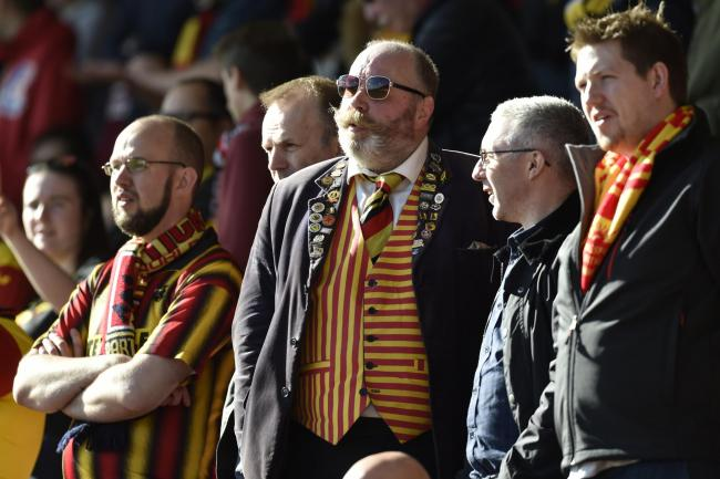 A group of Partick Thistle supporters
