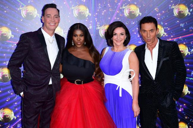 Craig Revel Horwood (left), Motsi Mabuse, Shirley Ballas and Bruno Tonioli (right)   Photograph: PA