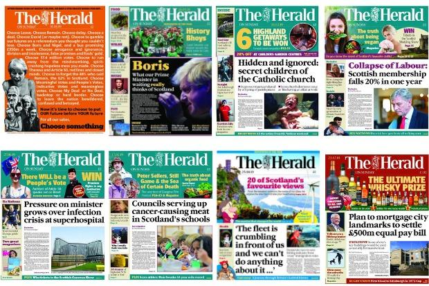 The Herald on Sunday: Our first year | HeraldScotland