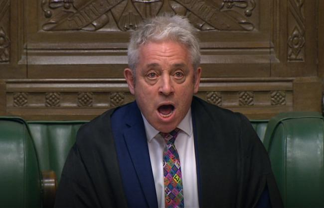 Speaker John Bercow announces that he has selected eight of the 16 Brexit alternative proposals to be considered as part of the indicative vote process to the House of Commons, London. PRESS ASSOCIATION Photo. Picture date: Wednesday March 27, 2019. See P