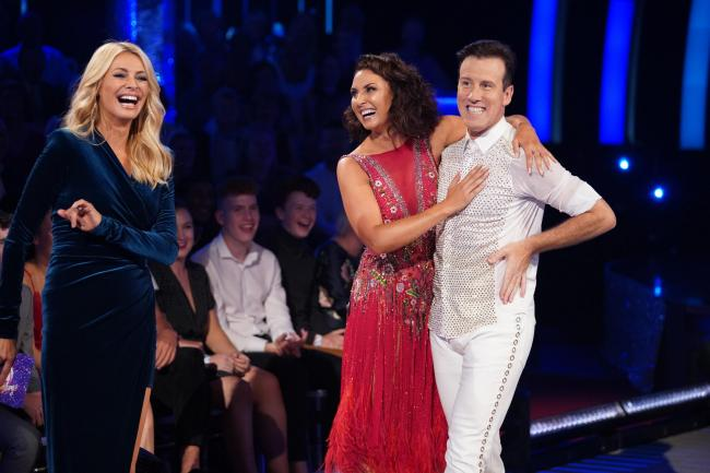 Tess Daly introduces Emma Barton to Anton du Beke as the 17th series begins