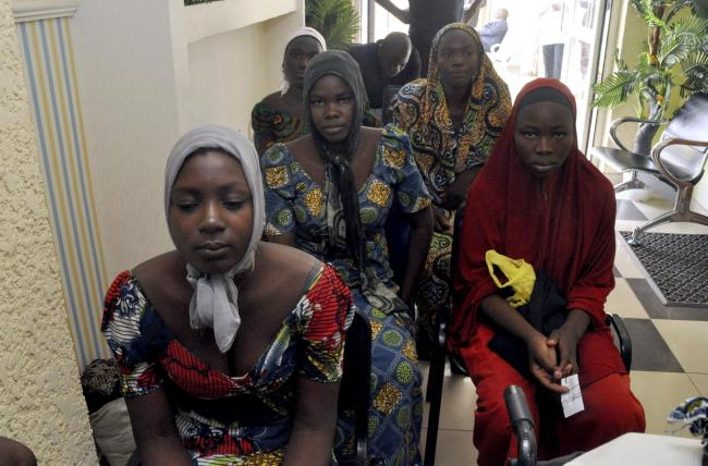 Three years after the mass abduction by Boko Haram, some girls were freed. Picture: AP.