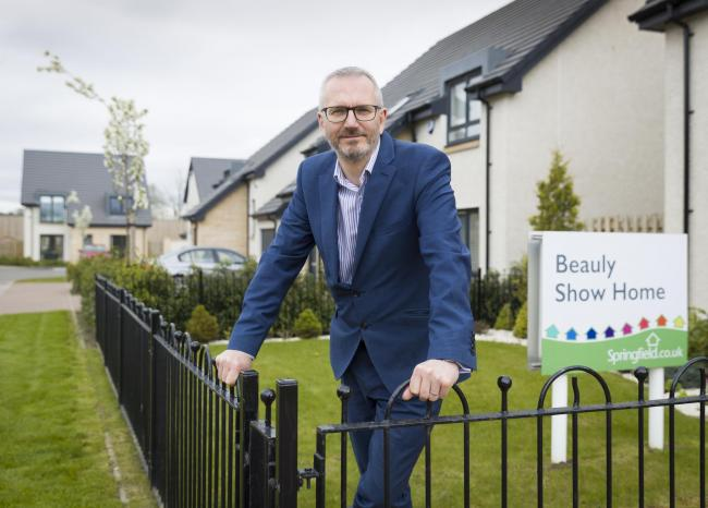 "Innes Smith, chief executive of Elgin-based Springfield Properties, said he had ""confidence in our future prospects and in achieving our goals""."