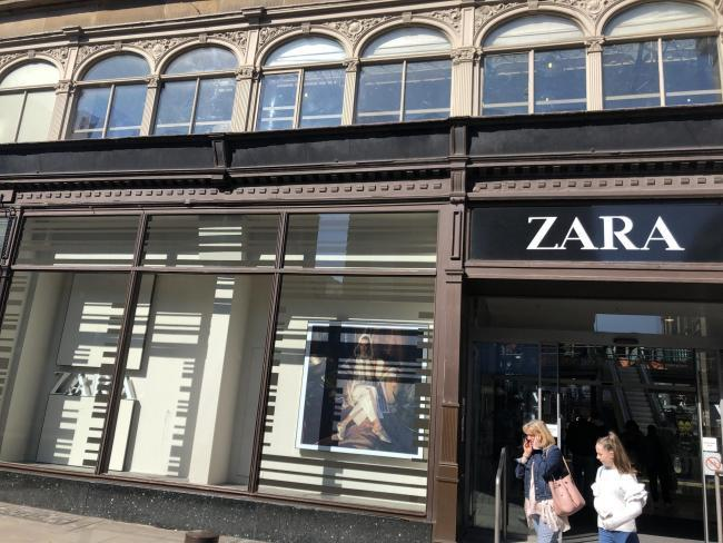Zara sales have been boosted by a popular polka-dot dress