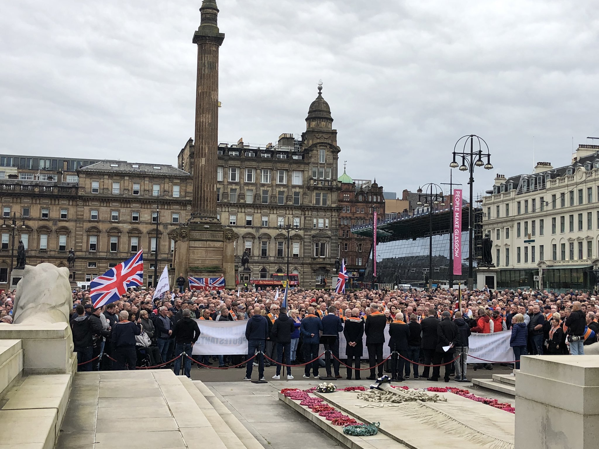 Thousands of Loyalists protest Glasgow City Council's march ban