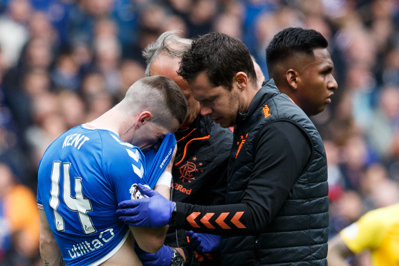 Steven Gerrard confirms Ryan Kent injury blow for Rangers
