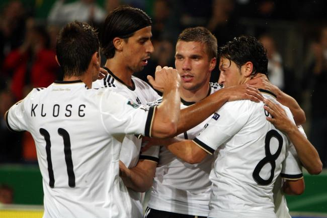 Lukas Podolski (second right), Miroslav Klose, Sami Khedira and Mesut Ozil have all boosted the German national side