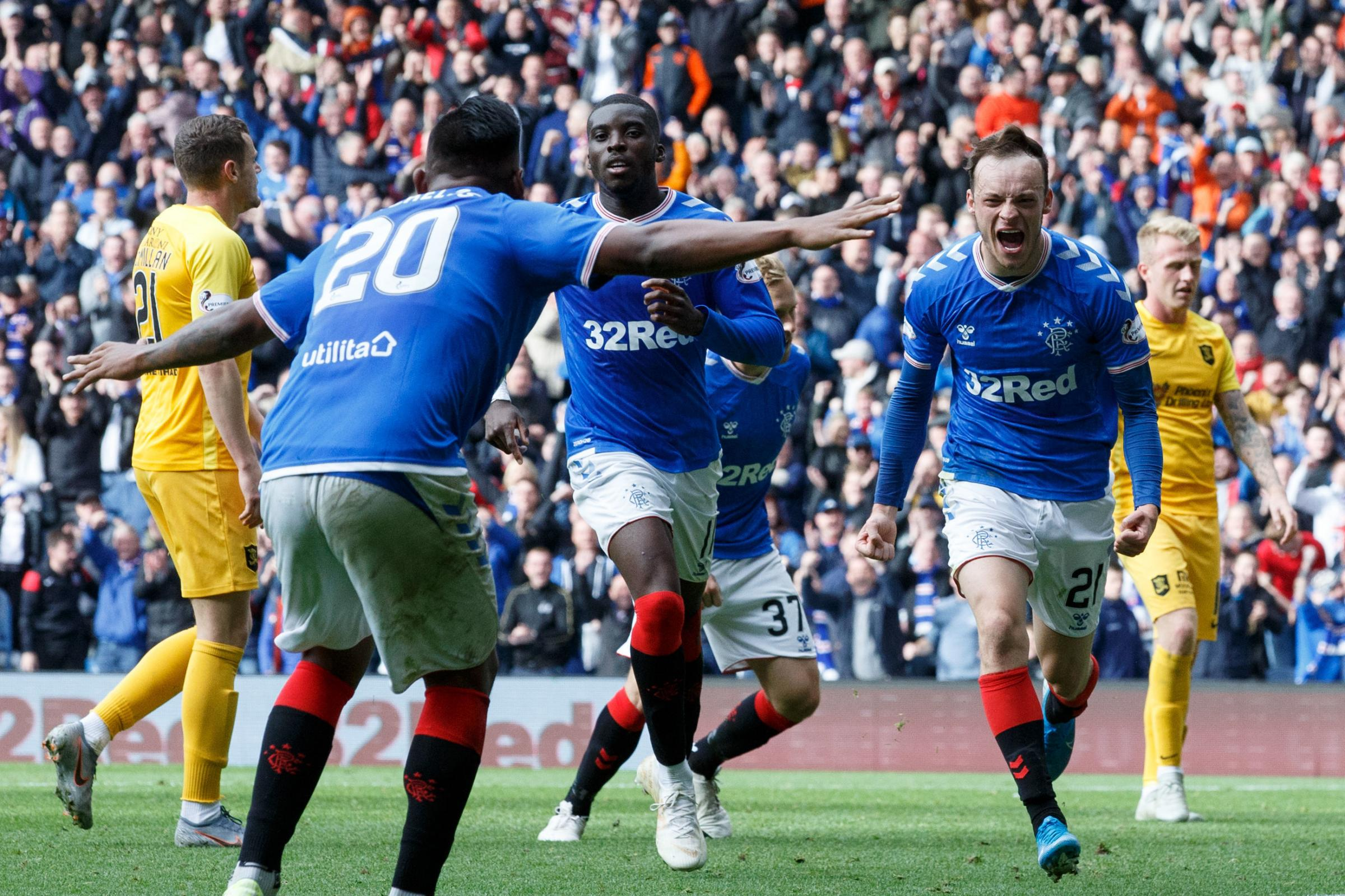 Rangers 3 Livingston 1: Brandon Barker seals Ibrox win as £7m man Ryan Kent limps out of debut