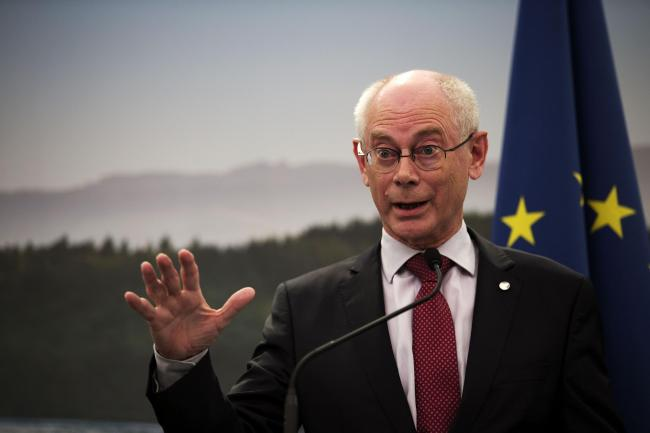 File photo dated 17/06/13 of former  President of the European Council Herman Van Rompuy, who has warned that serious negotiations on Britain's exit from the European Union cannot begin until the end of next year. PRESS ASSOCIATION Photo. Issue date: