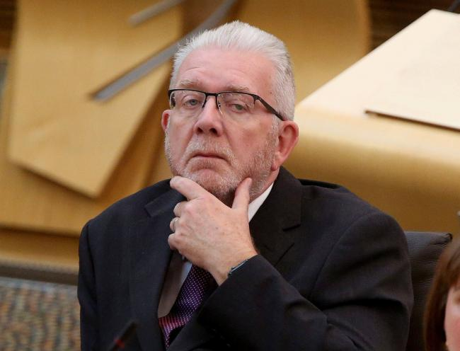 Brexit Secretary Mike Russell at Holyrood  tuesday.Pic Gordon Terris/The Herald.11/9/18.
