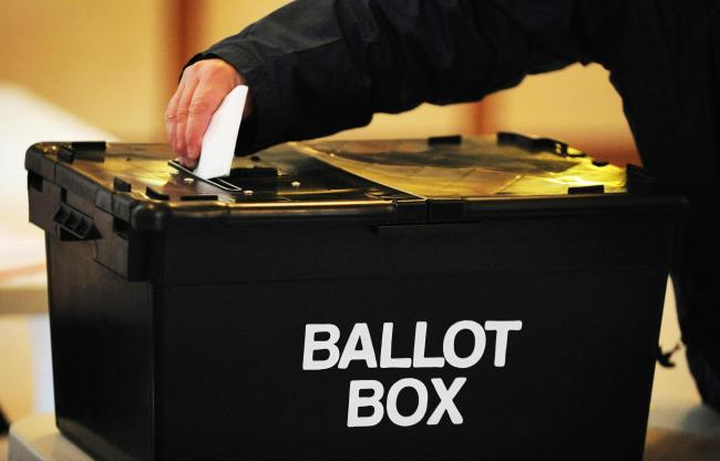 File photo dated 06/05/10 of a voter placing a ballot paper in the ballot box at a polling station. Police recorded a total of 260 cases of alleged electoral fraud in 2016, with convictions for a Tory councillor who gave a false address and a man who vote