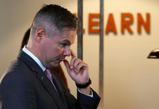 Ffinance Secretary Derek Mackay during a visit to Edinburgh tech company CodePlan after GDP figures were announced. STY GORDON.Pic Gordon Terris/The Herald.18/9/19.