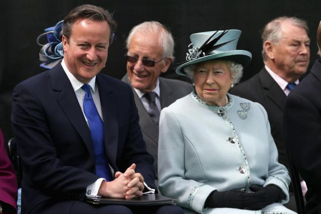 David Cameron and the Queen. His comments have caused 'an amount of displeasure' at the Palace. Pic: Chris Jackson/PA Wire.