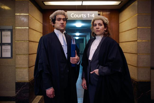 Will Sharpe as Will and Katherine Parkinson as Caroline in Defending The Guilty