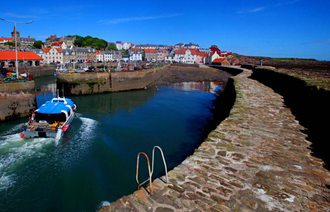 Pittenweem Harbour, photographed by Gordon Terris in 2017