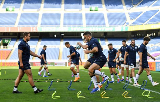 Scotland get in some last-minute training in Yokohama as they prepare for their World Cup opener against Ireland tomorrow morning