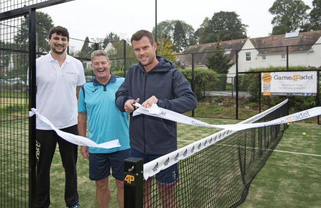 LEON SMITH  UNVEILED  NEW PADEL COURT IN EDINBURGH Edinburgh, 22nd  September 2019 - Barnton Park Tennis Club today officially opening their new padel court at a special event where anyone can come and try out the game. The new court was officially op