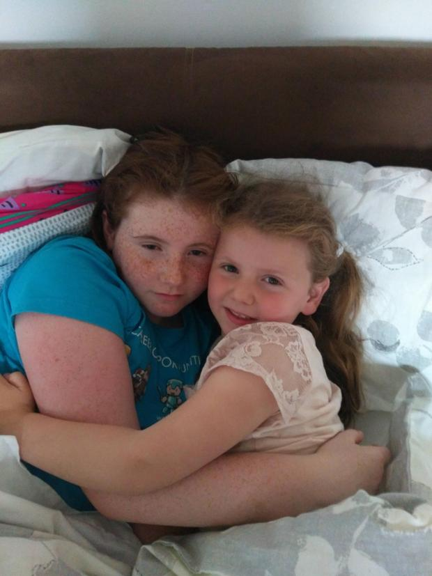 HeraldScotland: Laia with her sister Ellie