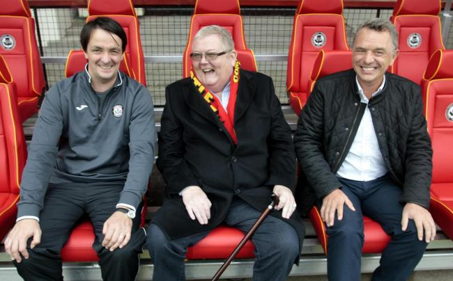 from left- Gerry Britton, Colin Weir and David Beattie at Firhill.....Partick Thistle FC has announced that it is to establish a new Youth Academy with the support of Euromillions? winners and Partick Thistle fans Chris and Colin Weir, who are to provide