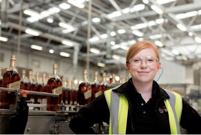 GLASS ACT: Diageo saw potential in former student Vittoria Gatti, who has just completed her three-year programme and is now working as a Planner.