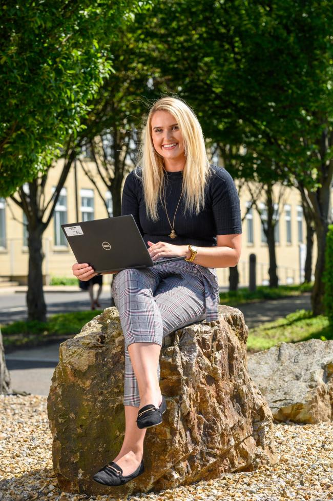 Jessica Auld has grasped the opportunity of a  graduate apprenticeship