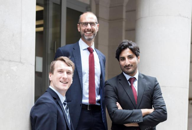 SAMUEL Church, Ewen Fleming, and Hyder Cheema will be working in the firm's London office.