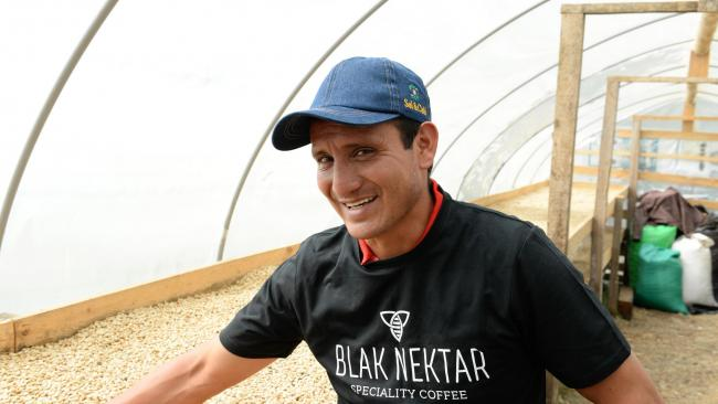 Gerardo Carranza of Finca La Orquidea in Jaen, Peru supplies coffee used in Matthew Algie's Blak Nektar