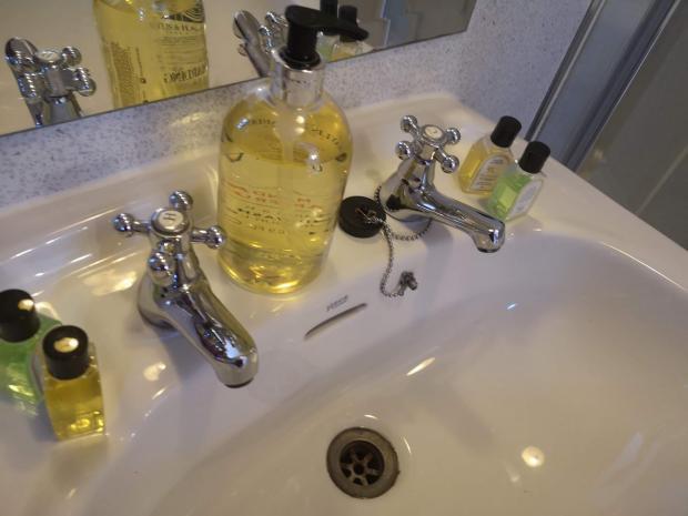 HeraldScotland: Spotless bathroom facilities, The Allan Ramsay Hotel, Penicuik
