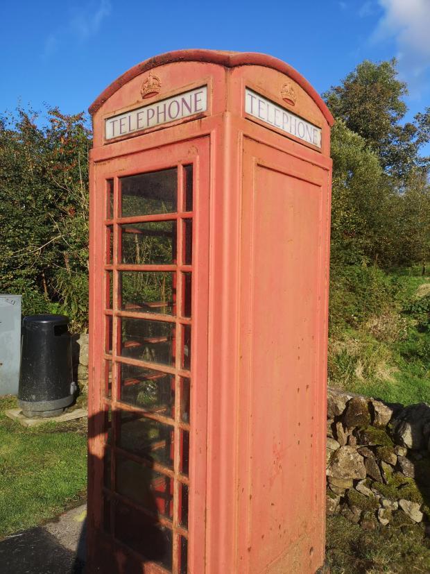 HeraldScotland: Old phone box outside The Allan Ramsay Hotel, Penicuik