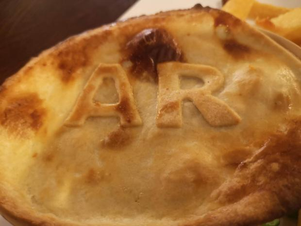 HeraldScotland: Signature steak pie dish, The Allan Ramsay Hotel, Penicuik