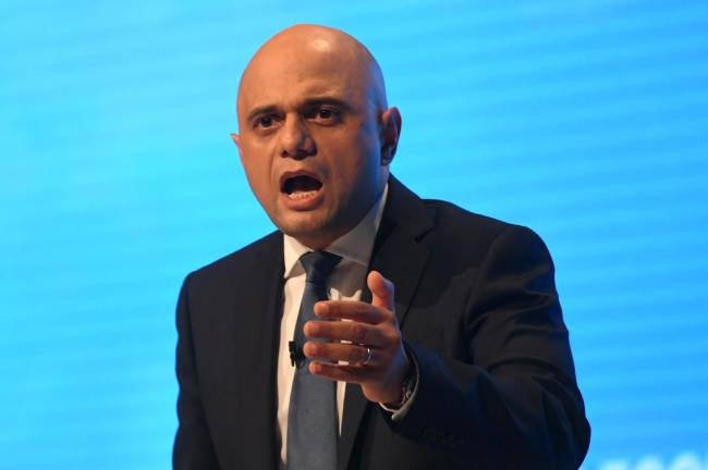 Sajid Javid addresses the Conservative Party Conference in Manchester. Photo: Stefan Rousseau/PA Wire