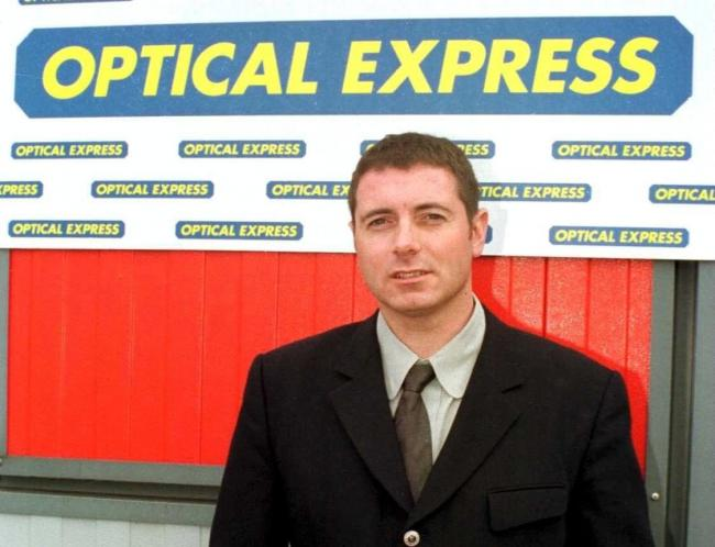 Optical Express founder David Moulsdale opened his first optician's outlet in 1991
