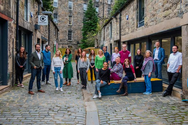 Montgomery Street Lane is a collaboration between Firstport, Challenges Group, Project Scotland and Volunteering Matters