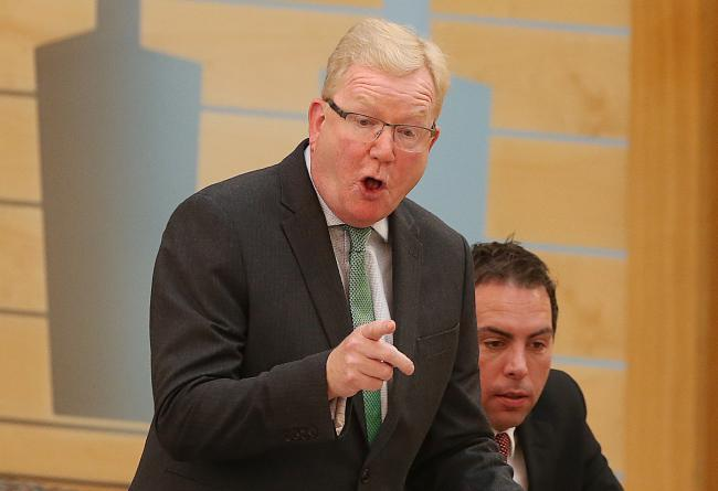 JAckson Carlaw at FMQs at Holyrood thursday. STY.Pic Gordon Terris/The Herald.3/10/19.