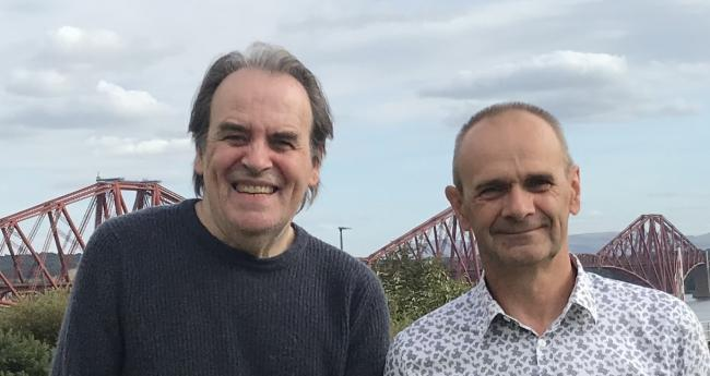 Gordon Povey, right, with Bill Buchanan