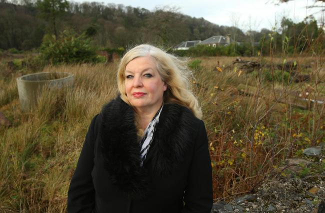 Carol Woollcott, pictured at the site in Bute where she wants to build the home