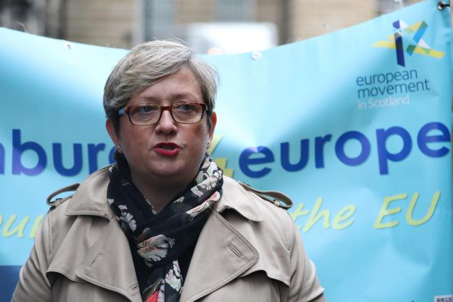 SNP MP Joanna Cherry outside the Court of Session in Edinburgh, where the court is hearing arguments on a legal action which seeks to ensure Prime Minister Boris Johnson requests an extension to the Article 50 process if he refuses to abide by the terms o