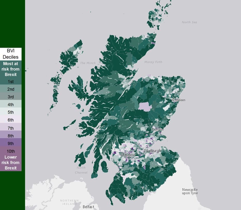 Map shows how Brexit affects all of Scotland
