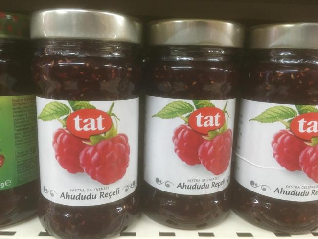 A READER spotted these raspberries for sale in Istanbul with a rather 'jarring' label.