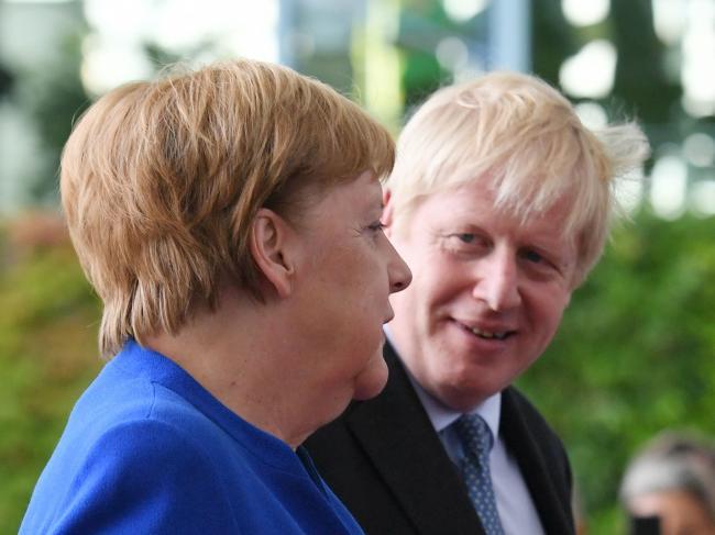 File photo dated 21/8/2019 of German Chancellor Angela Merkel and Prime Minister Boris Johnson in Berlin, ahead of talks to try to break the Brexit deadlock. Downing Street has said it is clear that EU has adopted a new position on Brexit following a call