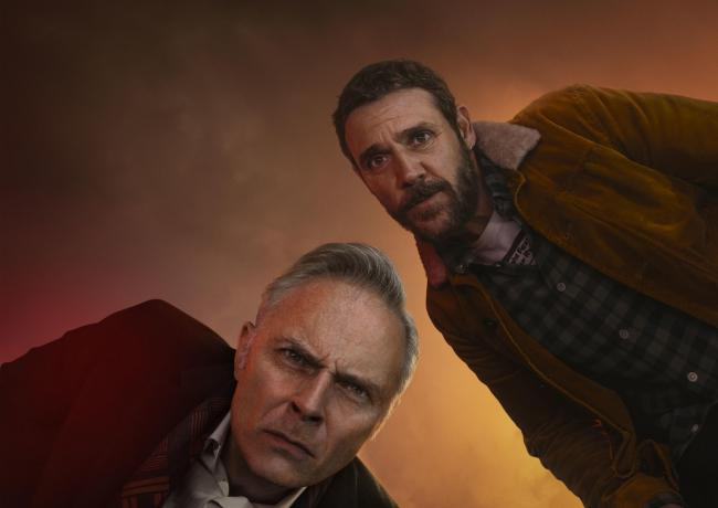 Mark Bonnar (left) and Jamie Sives in Guilt