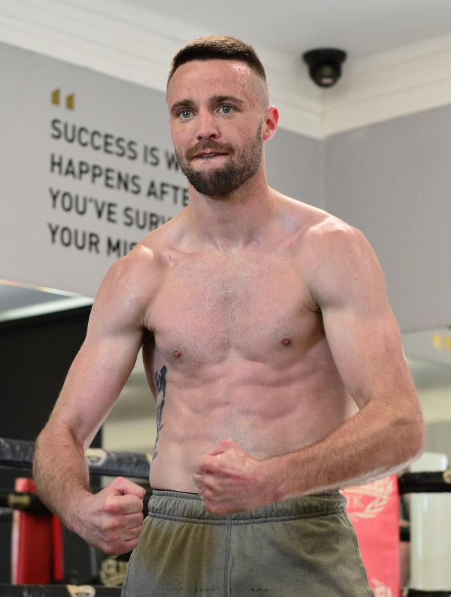 GLASGOW, SCOTLAND - MAY 14: Josh Taylor of Scotland during a Media Work out ahead of the Muhammad Ali Trophy Semi-Finals - World Boxing Super Series Fight Night at MTK Global Scotland on May 14, 2019 in Glasgow, Scotland. (Photo by Mark Runnacles/Getty Im
